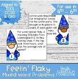 Winter Math Activity | Winter Task Cards | Winter Math Station | Feelin' Flaky