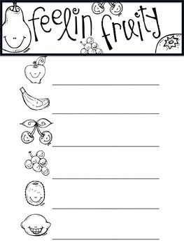 Feelin' Fruity Posters (14 Total) & Writing Activity