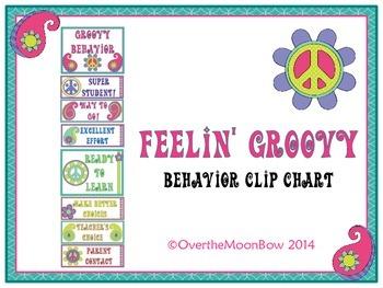 Feelin' Groovy Behavior Clip Chart