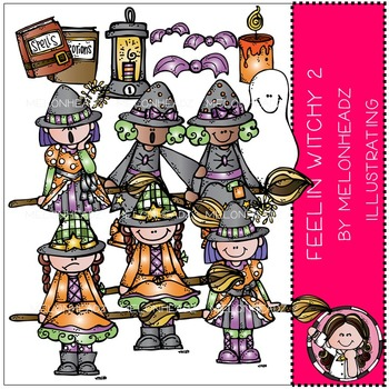 Melonheadz: Feelin Witchy clip art Part 2 - COMBO PACK