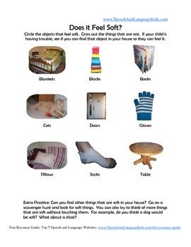 Feeling Adjectives (Touch) Visual Worksheets