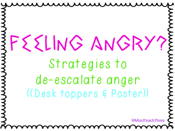 Feeling Angry? Strategies for de-escalating anger