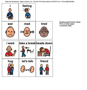 Feeling Chart - Behavior Modification Visual Chart