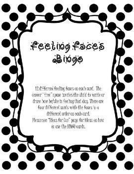 Feeling Faces BINGO