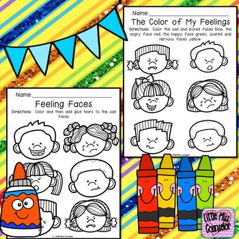 Feeling Faces Coloring Sheets Celebration Freebie By Little Miss