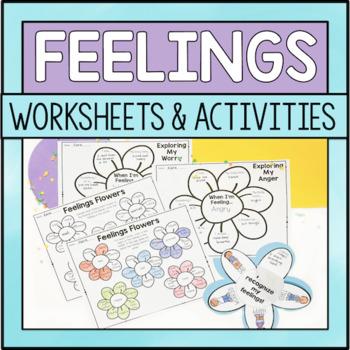 Feeling/Emotions Flower Worksheets: A Spring Activity