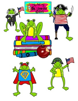 Feeling Froggy All Year Long Clip Art Set for Commercial or Personal Use
