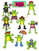 Feeling Froggy All Year Long Clip Art Set for Commercial o