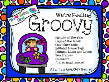 Feeling Groovy 70's Editable Classroom Decor