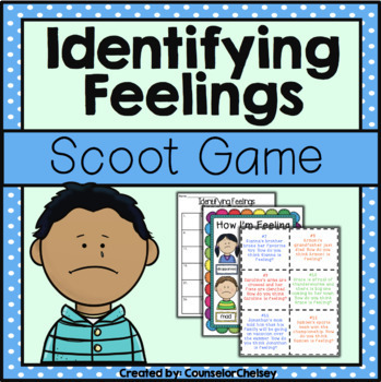 Identifying Feelings/Emotions Scoot Game