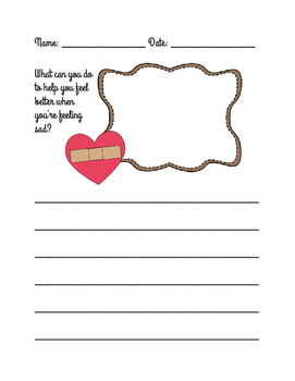 Feeling Sad Writing Prompt - 3 Differentiated Sheets