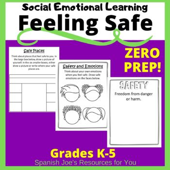 Feeling Safe Social Emotional Learning Activities For Kids Distance Learning