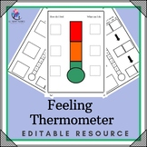 Feeling Thermometer - Editable - 2 pages