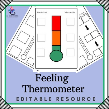 feeling thermometer editable 2 pages by all therapy resources. Black Bedroom Furniture Sets. Home Design Ideas