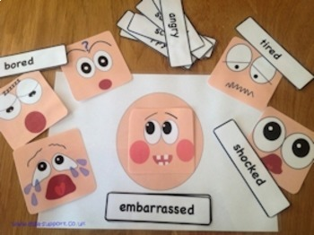 Feeling face and emotion cards