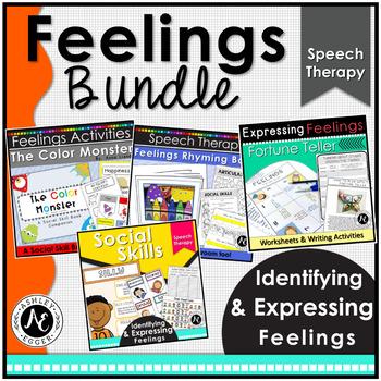 Feelings Activities Bundle Speech Therapy Activities