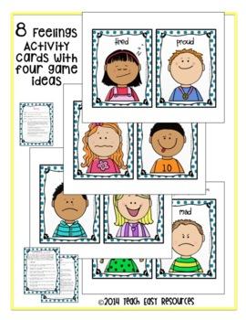 Feelings Activities - Playdough Mats, Games, Graphing Activity, Pre-K-K