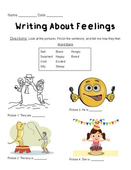 Feelings Activity: Level 1 and 2 [Differentiated Activities] [Both Included]