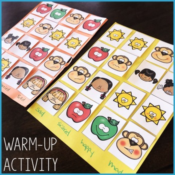Feelings Activity: Talking About Feelings Classroom Guidance Lesson