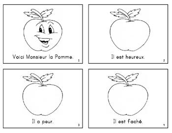 FRENCH Apple-themed emergent reader (les pommes - cycle de vie d'un pommier)