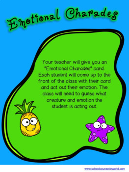 A Guidance Lesson on Feelings Are Real, Grades 4-6