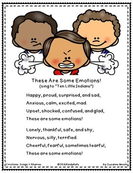Emotions BUNDLE: Songs & Rhymes, Circle Time, Play Dough Mats