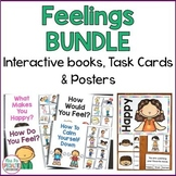 Feelings BUNDLE: Interactive Books, Task Cards and Posters
