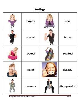 Feelings - Basic Vocabulary in Pictures
