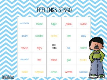 Feelings Bingo Freebie