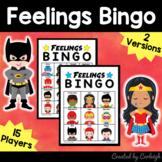 Feelings Emotions Bingo Game - Superhero Themed