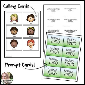 Feelings / Emotions Bingo Game K-2