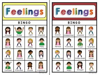 Feelings Bingo for Emotional Literacy