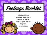Feelings Booklet or Cards FREEBIE