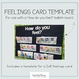 Feelings Card Template for Emotions Bulletin Board