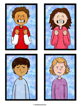 Feelings Cards: 20 Emotions Included