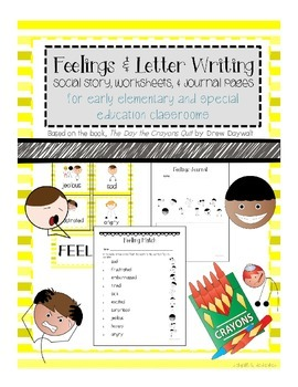 Feelings Cards, Social Story, & Worksheets for Special Education UPDATED 7/3/15