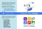 Feelings Challenge Pack - targets, posters & worksheets for emotions