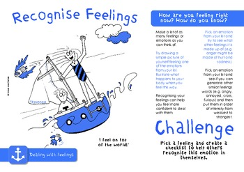 Feelings Challenge Pack - targets, posters & worksheets for emotions