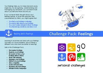 Feelings Challenge Pack - targets, posters & worksheets fo