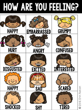 Feelings Charts {for early childhood students}
