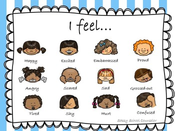 Feelings Chart with Faces- Diverse