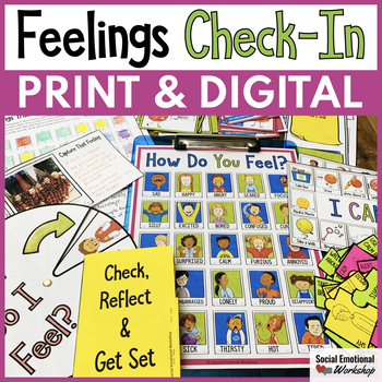 Feelings Check-In Activities and Feelings Chart for Social Emotional Learning