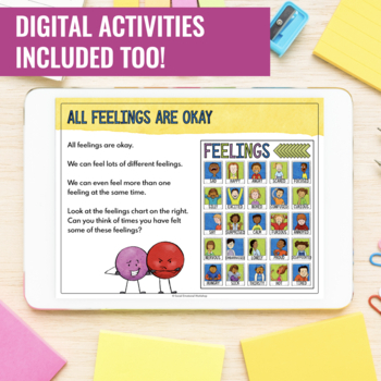 Feelings Check-In Activities and Feelings Chart