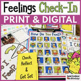 Feelings Check-In Activities and Feelings Chart with Digital Slides