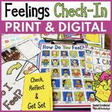 Feelings Check-In Activities & Feelings Chart Print & Digital