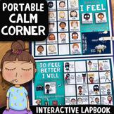 Feelings Check-In & Self-Regulation Calm Corner Lap Book w/ Mindfulness Tools