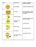 Feelings Check in and choice chart