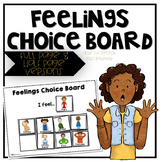 Feelings Choice Board   Clip Art Version