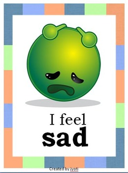 Feelings Classroom Posters and Cards