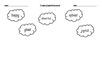 Feelings Clouds and Coloring Pages